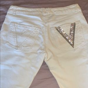 📂💼 NWOT VERSACE Denim pants studded logo 📂💼
